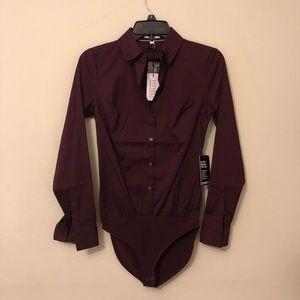 NEW! Express Bodysuit Dress Shirt
